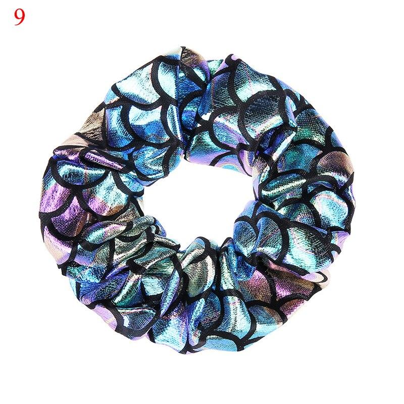 Корейский женский ободок для волос для девочек, полосатые женские резинки для волос, конский хвост, Женский держатель, веревка с ананасовым принтом, аксессуары для волос - Цвет: de9