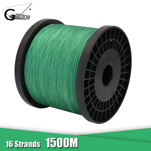 16 Strands Braided Fishing Wire 1500M Japan Super Strong 60LB-310LB Multifilament PE Fishing Line