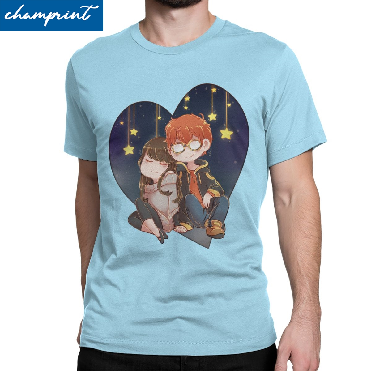 Men's Mystic Messenger 707 & <font><b>MC</b></font> <font><b>T</b></font> <font><b>Shirt</b></font> MM BG Otome Game Clothes Fashion Short Sleeve Round Collar Tees Plus Size <font><b>T</b></font>-<font><b>Shirt</b></font> image