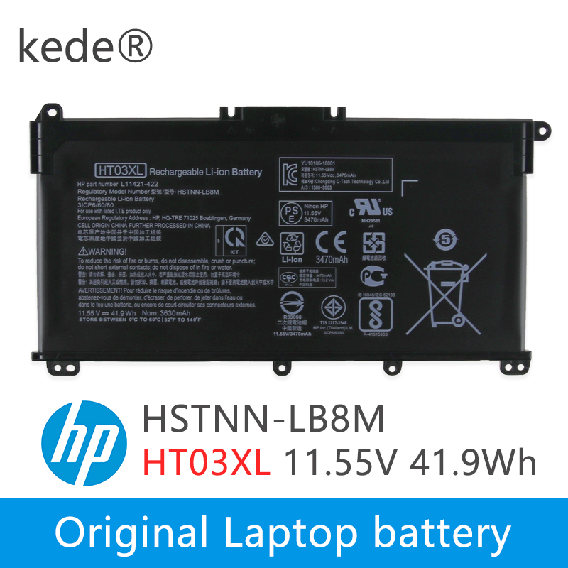 Kede  HT03XL Battery For Pavilion HP Star 14-CE0025TU 14-CE0034TX 15-CS0037T 250 255 G7 HSTNN-LB8L L11421-421 HSTNN-LB8M/DB8R