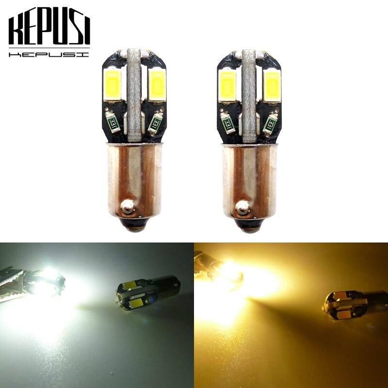 50pcs BA9S Led Bulbs Car Reading Clearance Lights White Red Green Amber Blue 12V