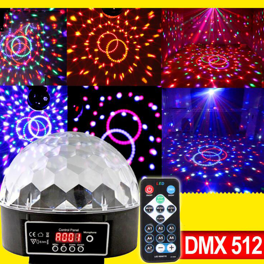 Disco Lights With Remote Control Sound Activated Strobe Light Disco Ball Party Light 6colors For Xmas Parties DJ Karaoke Wedding