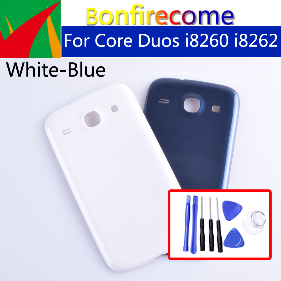 I8262 Battery Back Cover For Samsung Galaxy Core Duos I8260 I8262 GT-i8260 GT-i8262 Rear Housing Battery Door Case Chassis Shell