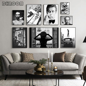 Modern Fashion Poster Black White Canvas Print Sexy Woman Wall Art Painting Picture Modern Living Room Home Decoration modern black swan and white swan canvas painting print poster picture home bedroom wall art painting decoration can be customize