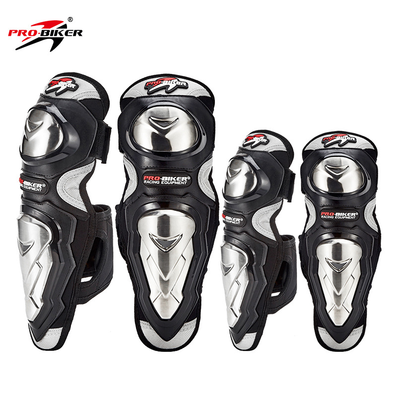 Genuine Product Stainless Steel Off-road Protective Clothing Legguard Motorcycle Protective Gears Knee And Elbow Pad Four-piece