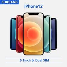 Odblokowany oryginalny APPLE iPhone 12 telefon komórkowy 6.1 cala 5G telefony komórkowe wyświetlacz XDR 12.0MP podwójny aparat A14 Bionic IOS Smartphone