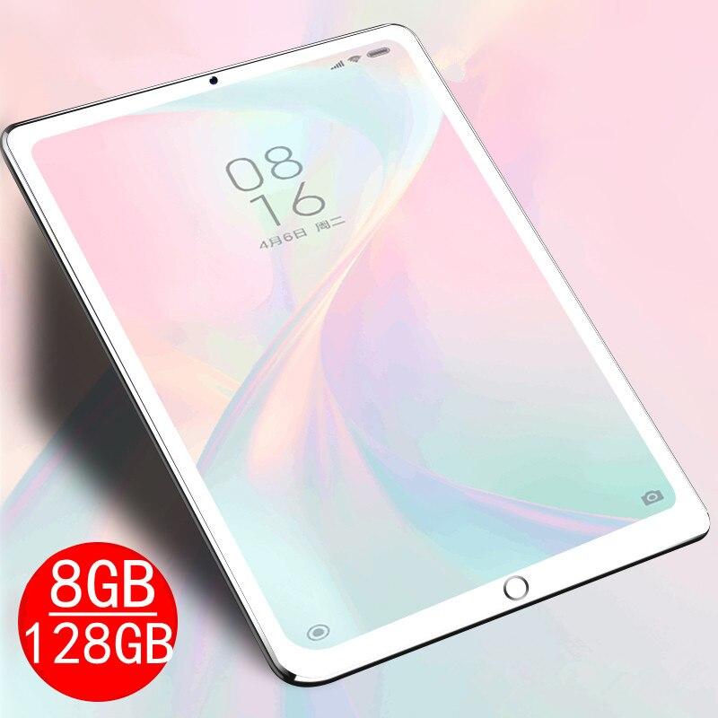 2021 Новый 8 Гб оперативной памяти + 128 ГБ Rom 10,1 дюймов планшетный ПК с системой андроида и 9,0 Восьмиядерный планшет с двумя камерами и вспышкой, ...