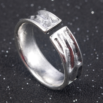 Punk Fashion Style Antique Retro Male Jewelry Viking Ring Female Black Amulet Vintage Norse Rune Rings For Women Men 3