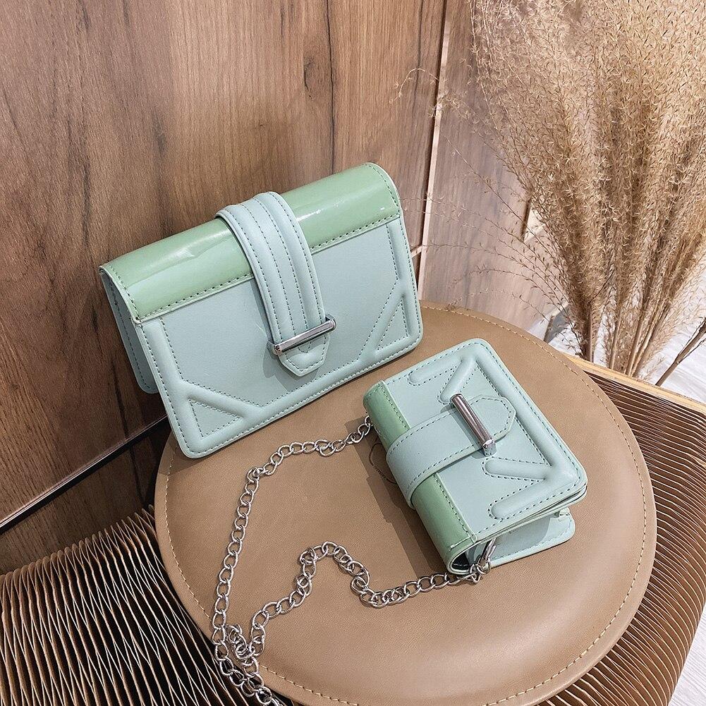 Korean Luxury Handbags Women Bags Leather Chain Crossbody Bags for Women 2020 Lock Diamond Hasp Shoulder Bag