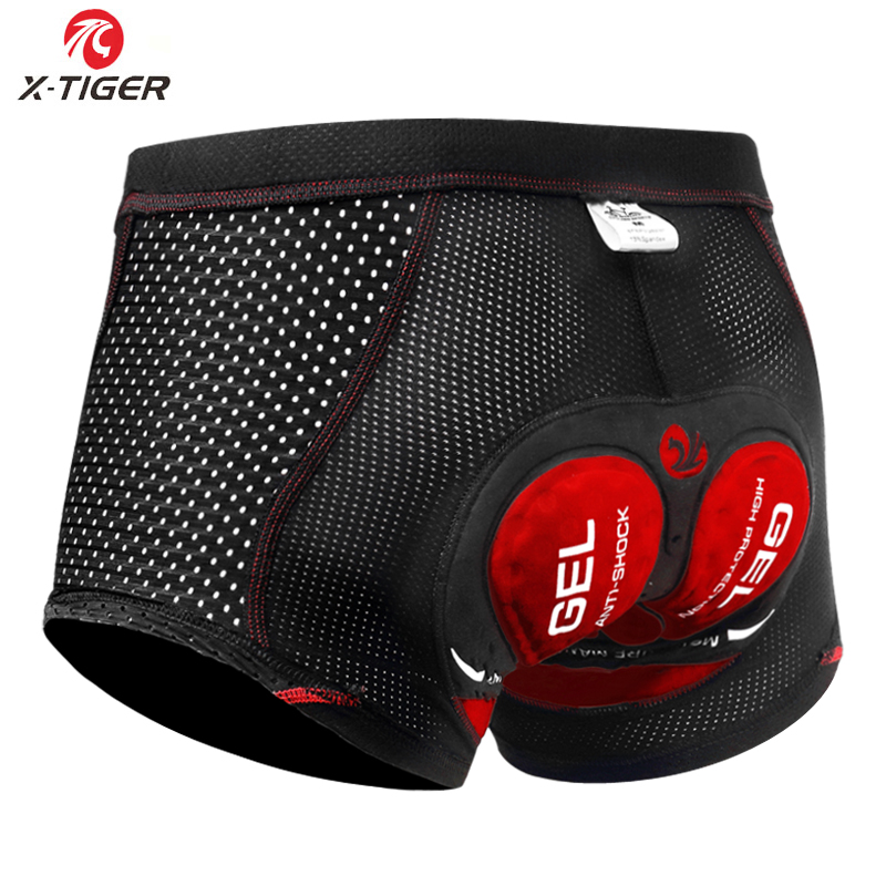 X-Tiger 2020 Upgrade Cycling Shorts Cycling Underwear Pro 5D Gel Pad Shockproof Cycling Underpant Bicycle Shorts Bike Underwear
