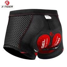 X-tiger 2020 actualización ciclismo pantalones cortos ciclismo ropa interior Pro 5D Gel Pad a prueba de golpes ciclismo Underpant bicicleta pantalones cortos bicicleta ropa interior