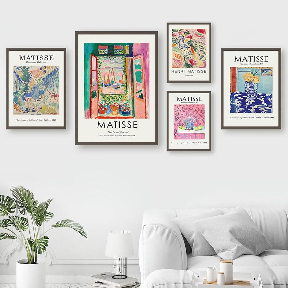 Vintage Henri Matisse Retro soyut duvar sanatı tuval yağlıboya İskandinav posterler ve baskılar duvar resimleri için oturma odası dekor
