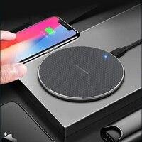 Cargador inalámbrico 10W 5V 2A para iPhone 11X8 Plus XR XS almohadilla de carga rápida máxima para Samsung Note 9 Note 8 S10 Plus cargador de teléfono