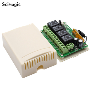 Image 3 - 433Mhz Universal Wireless Remote Control Switch DC 12V 4 CH RF Relay Receiver Module + RF Remote 433 Mhz Transmitter Diy