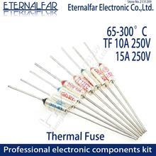 TF fusible térmico RY 10A 15A 250V temperatura 65C 85C 100C 105C 100C 120C 130C 152C 165C 172C 185C 192C 200C 216C 240C 280C 300C