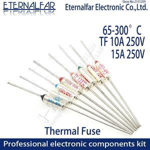 TF Thermal Fuse RY 10A 15A 250V Temperature 65C 85C 100C 105C 100C 120C 130C 152C 165C 172C 185C 192C 200C 216C 240C 280C 300C(China)