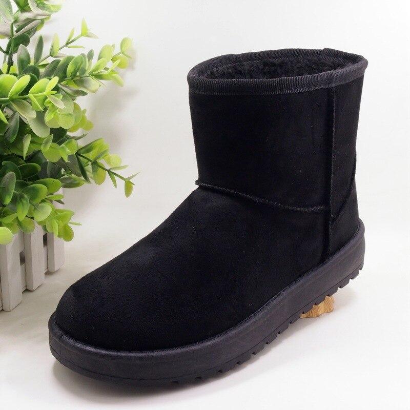 Ev ve Bahçe'ten Ayakkabı Rafları ve Organizatörleri'de Kar botları kadın kısa 2019 yeni stil kış sıcak artı kadife kısa çizmeler kore tarzı çok yönlü öğrenciler pamuk yastıklı ayakkabı title=