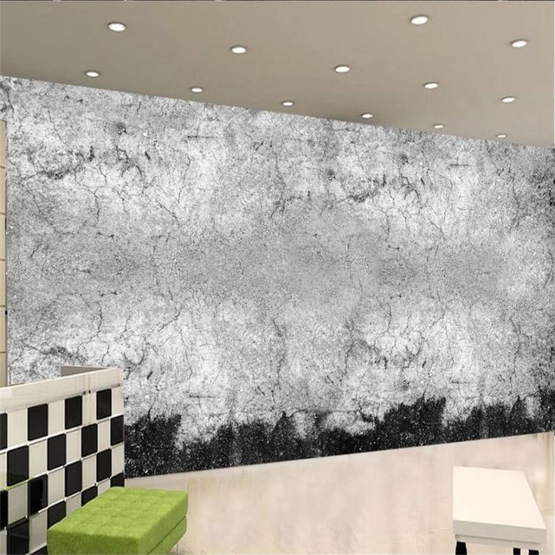Gray Cement Wall Photo Wallpapers For Living Room Cafe Bar Retro Industrial Wind Restaurant Background Decor Mural Wall Paper 3D