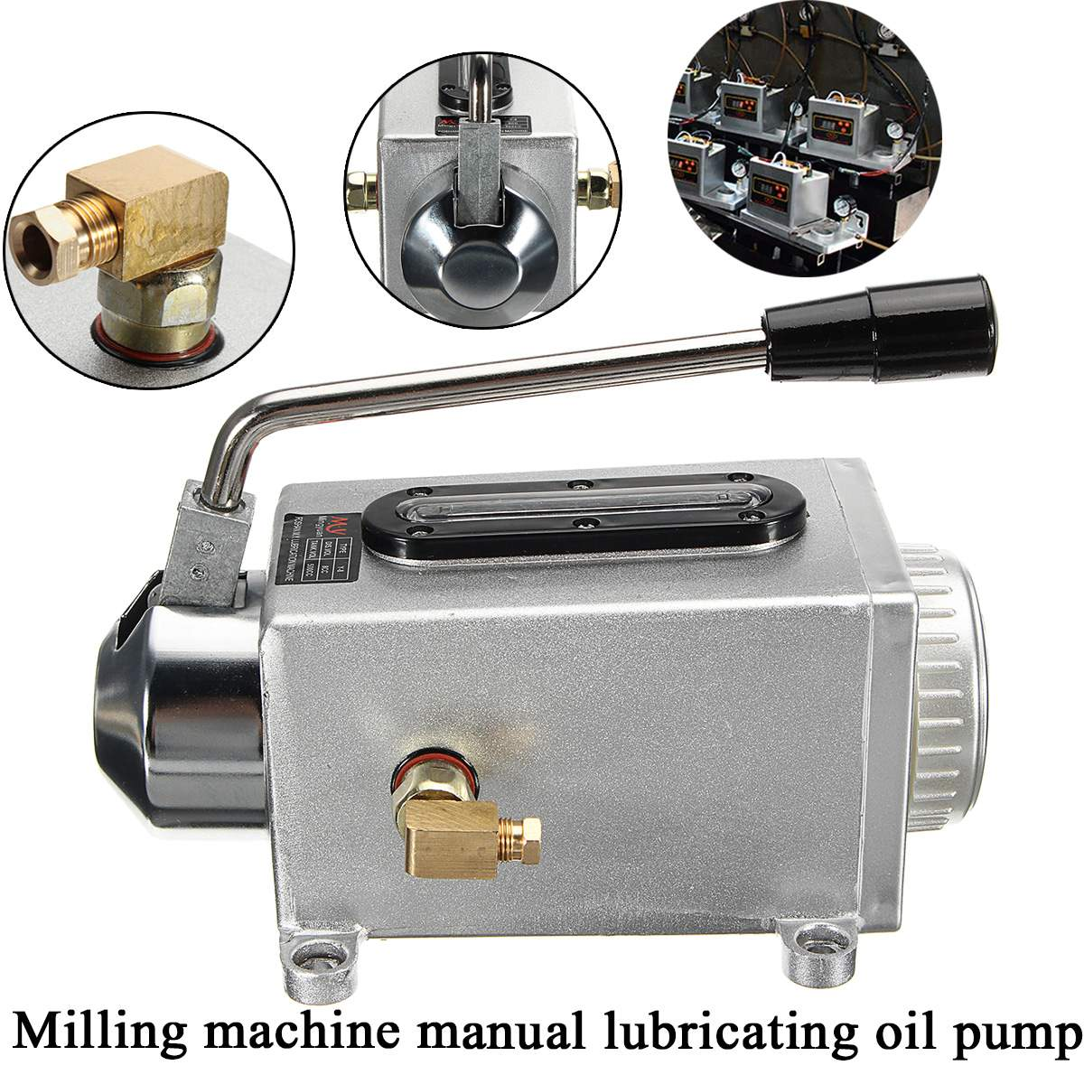Y-8 Hand Operated Manual Pump Lubrication Punching Pump Oil Machine CNC Machine Oiler
