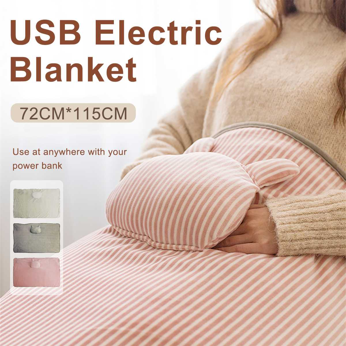 Portable USB Electric Blanket Heated Shawl Car Office Home Warm Neck Shoulder Heating Blanket Pad Multifunctional Winter