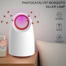 Photocatalyst Mosquito Killer Lamp USB Power Insect Killer Lamp Night for Home LED Mosquito Killer Mosquito Lamp White/Black ywxlight photocatalyst no radiation mosquito killer lamp