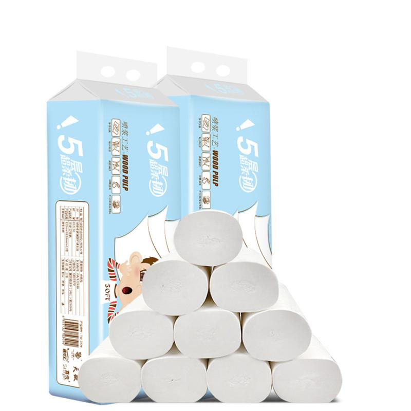 12 Rolls Of One Set Durable Toilet Paper Household Roll Paper Toilet Wood Pulp Coreless Tissue Paper Household Merchandises