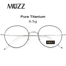 Reines Titan Brille Rahmen Männer Vintage Runde Myopie Optische Brillen Rahmen Neue Frauen Weibliche Retro Oval Brillen