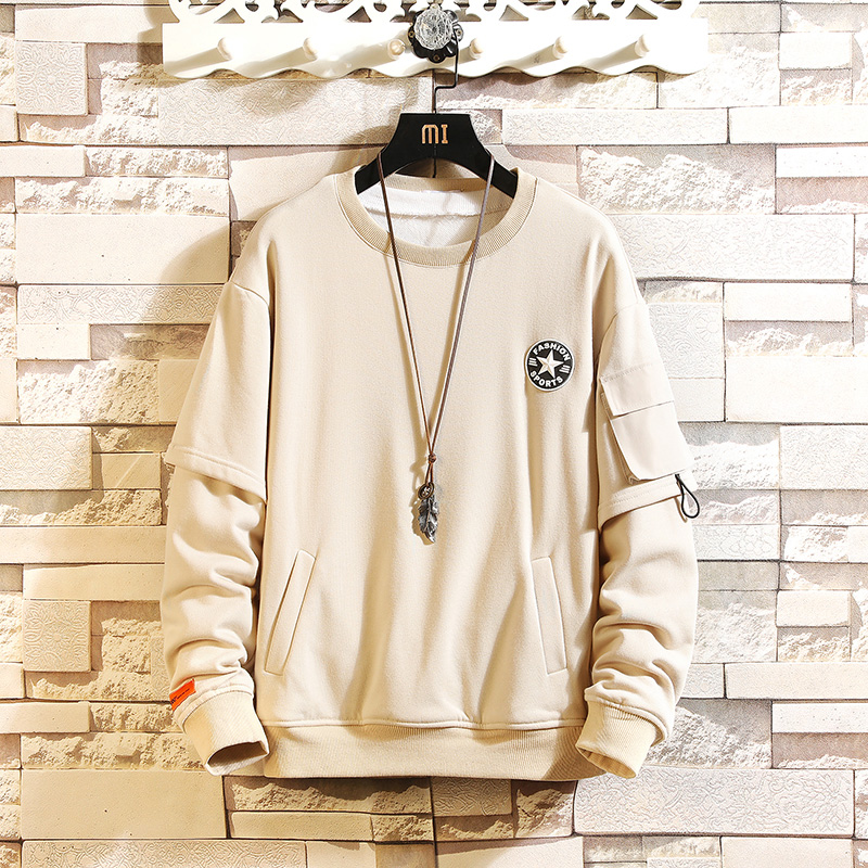 Japanese Style Casual O-Neck 2020 New Arrived Hoodie Sweatshirt Men Thick Fleece Style Hip Hop High Streetwear Oversize Clothing
