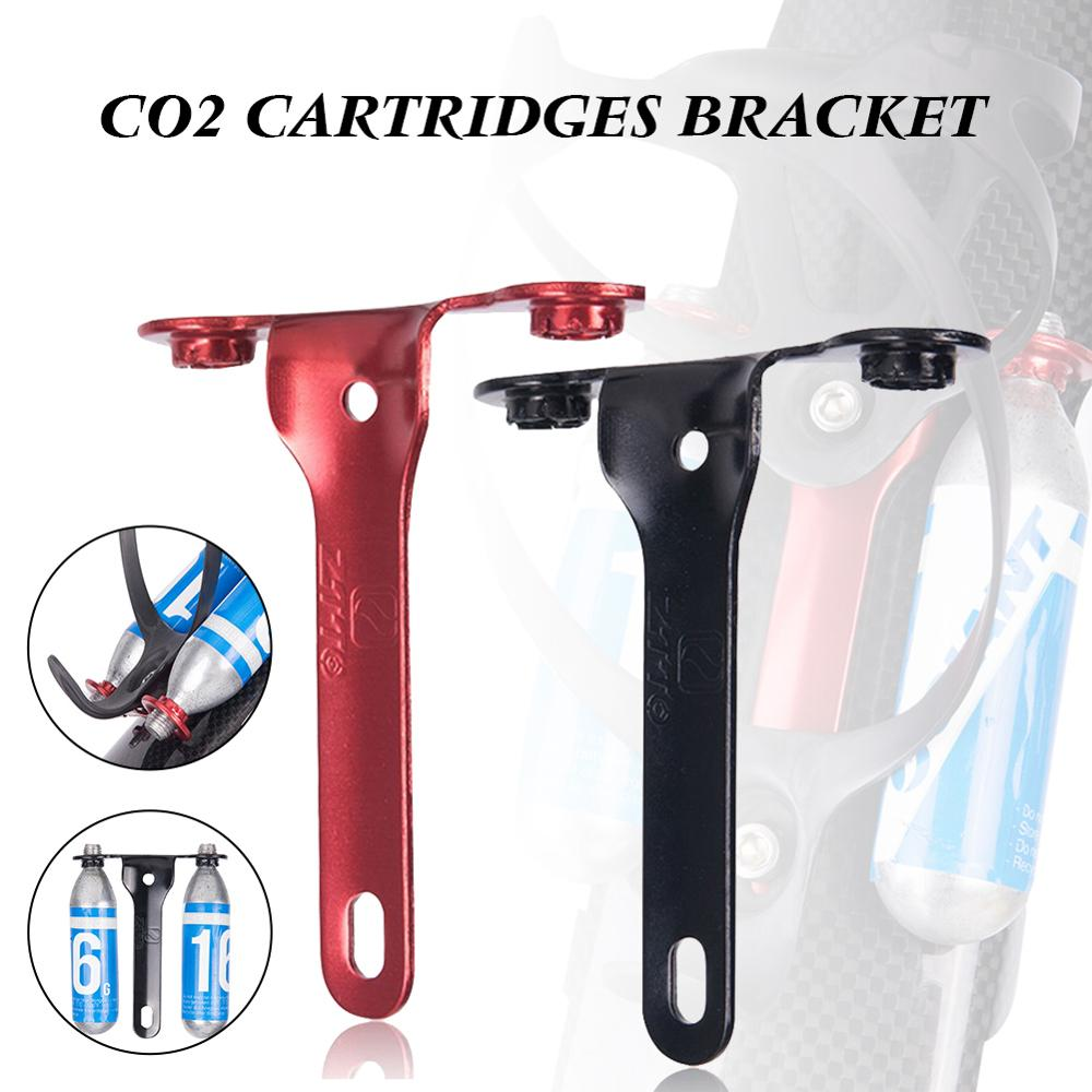 CO2 Cartridges Holder Bracket Water Bottle Cage Mount for Bicycle Bike Red