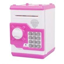 Los niños de dinero electrónico con caja de voz inteligente juguete de los niños de dinero Caja de Ahorro de Caja Mini cajero automático de la máquina de caja de regalos niños