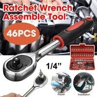 Steckschlüssel Set Universal Auto Reparatur Werkzeug Sockel Ratsche Set Drehmoment Schlüssel Auto Motorrad Reparatur Werkzeuge DIY Werkzeuge 46 pcs-in Schraubenschlüssel aus Werkzeug bei