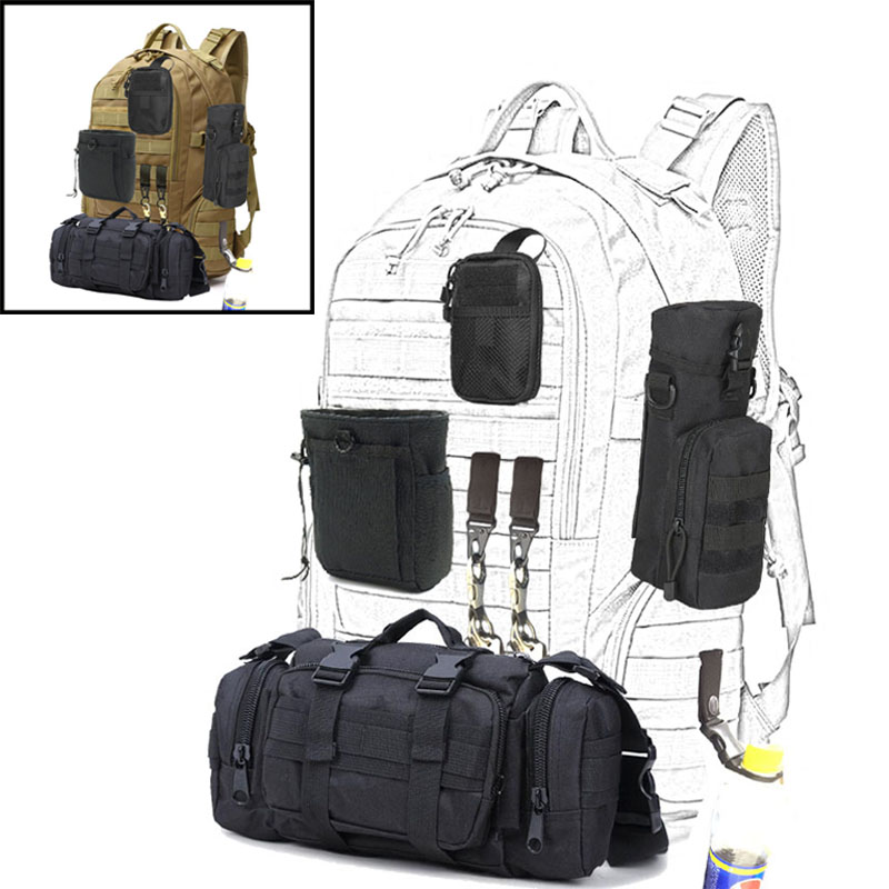 20L Outdoor Military Tactical Backpack Camping Hand Bag Shoulder Bags Molle Tact