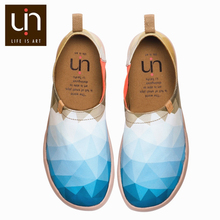 UIN Morning Original Design Painted Canvas Shoes Men Fashion Loafers Wide Feet Blue Sneakers Lightweight Comfort Casual Shoes