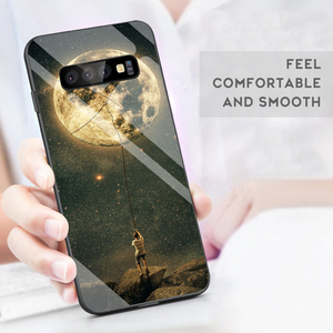 Image 3 - Gehard Glas Case Voor Samsung Galaxy S10 S9 S8 S20 Plus S10e S20 Ultra A51 A50 A71 A70 Shockproof Ster ruimte Gradiënt Cover