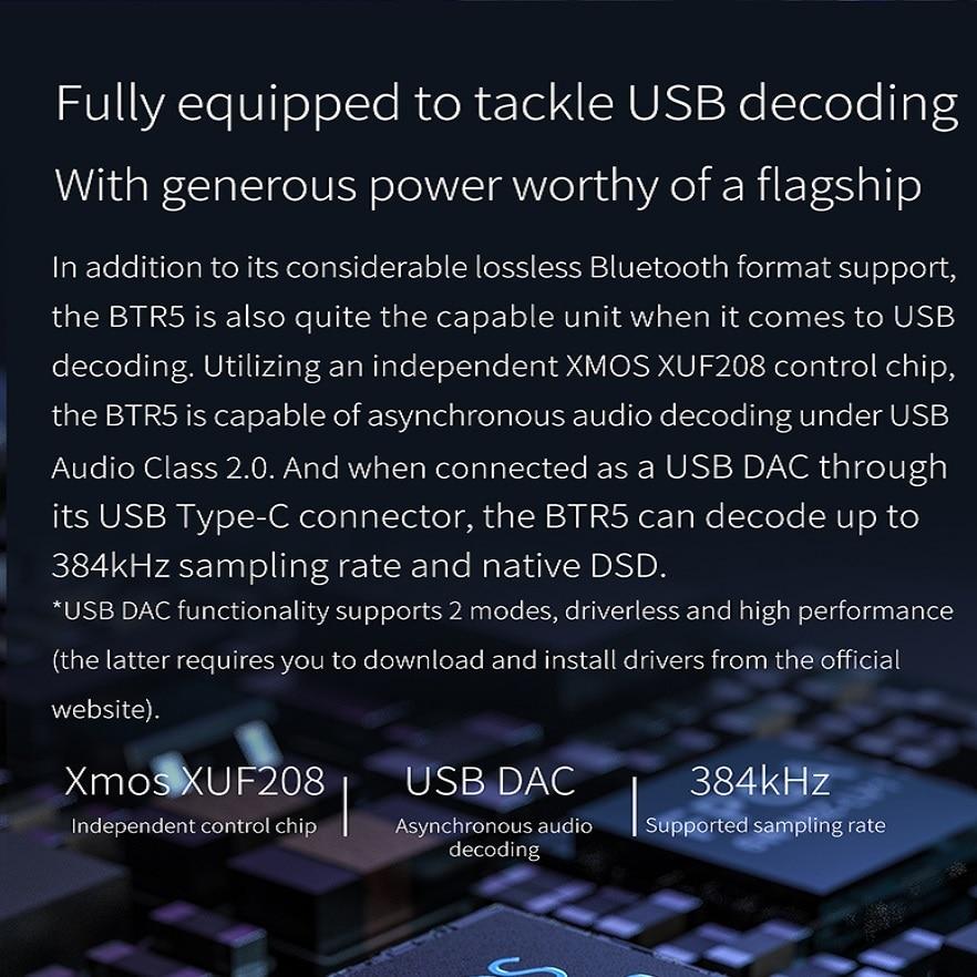 Image 3 - FiiO BTR5 portátil Bluetooth amplificador de auriculares CSR8675 tecnología AptX HD tecnología LDAC USB DAC AAC iPhone Android 3,5mm 2,5mm de Audio de alta fidelidad, decodificadorAmplificador de auriculares   -
