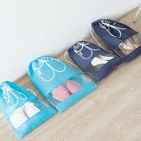 Reise Schuhe Lagerung Tasche Strahl Mund Nicht woven Tasche Transparent Staub Tasche Schuh Tasche-in Lagerbeutel aus Heim und Garten bei