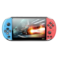 New X12 Game Video Games Handheld Game Console for PSP Retro Dual Rocker Joystick 5.1 Inch Screen TV Game Player for SFC/GBA/NES
