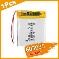 Rechargeable Polymer battery 700 mah 3.7V 603035 smart home Li-ion battery for dvr GPS mp3 mp4 PSP Bluetooth headset Smart Watch