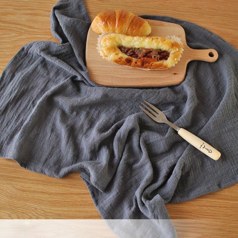 45*65cm Solid Japanese Style Mat Napkin Cotton Linen Dessert Table Napkins Tea Towels Kitchen Dishcloth Placemats