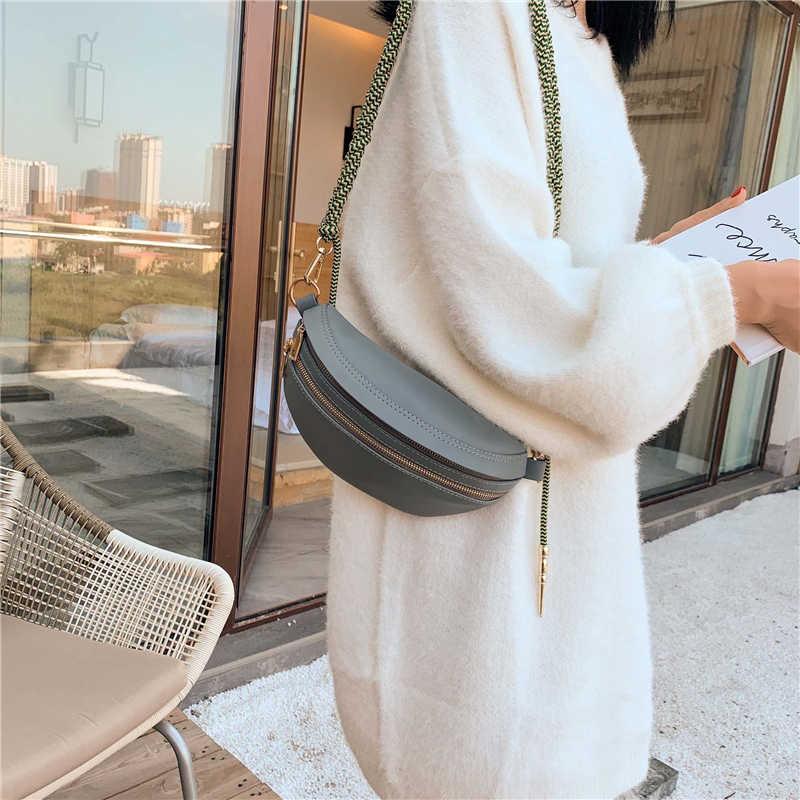 Burminsa שיק עיצוב ארוג רצועת חזה שקיות לנשים סוכריות צבעים בנות מיני קלע שקיות באיכות גבוהה רך Crossbody שקיות 2020