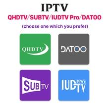IPTV Italy France 1 Year Code for M3u DATOO/SUBTV/QHDTV/IUDPRO Subscription Spain IP TV Arabic Canada Germany
