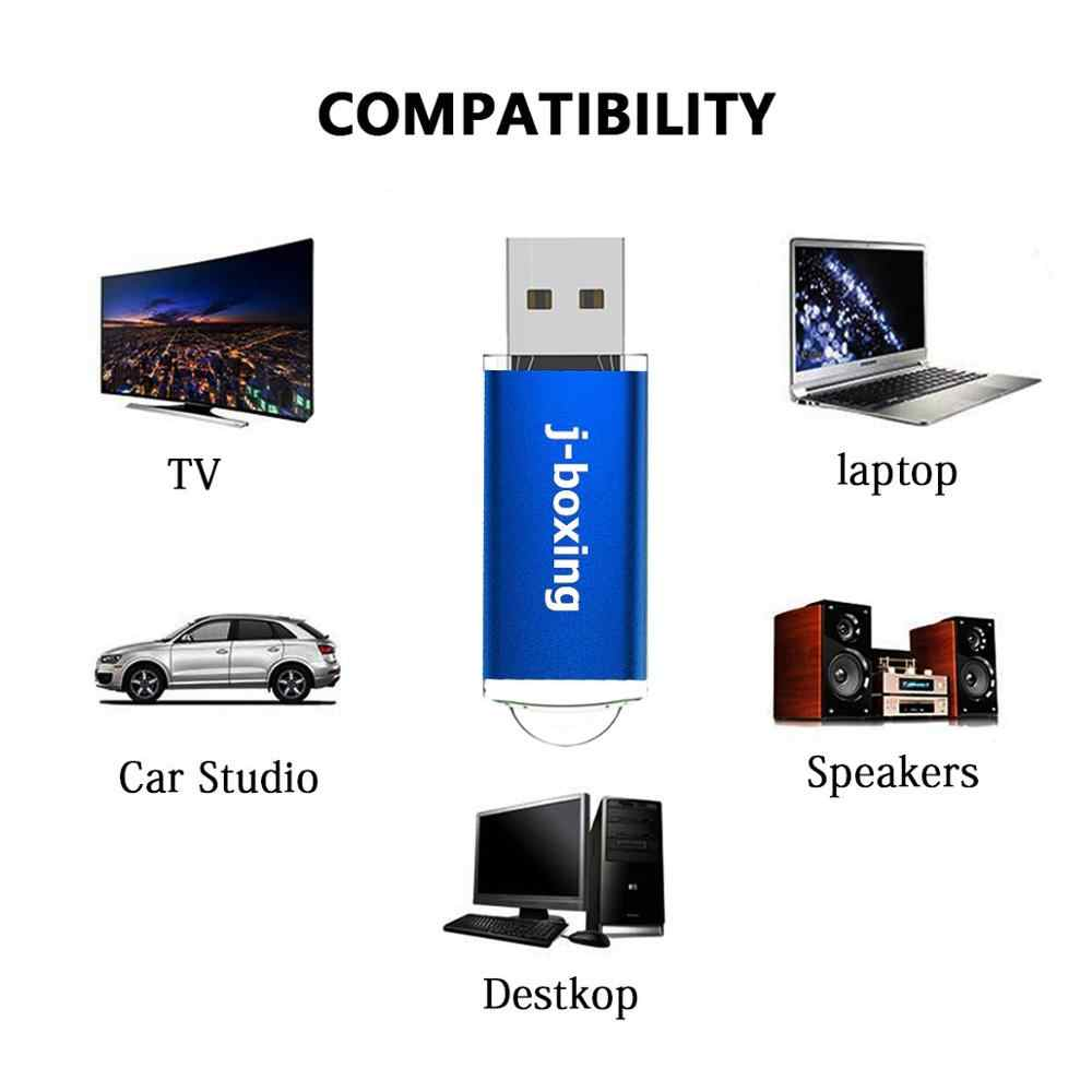 J-Boksen Usb Flash Drive 16 Gb Rechthoek Usb 2.0 Memory Stick Duim Pendrives Genoeg Opslag Voor Pc Laptop macbook Tabletten Blauw