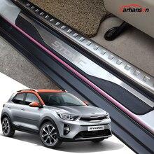 Kia Stonic araba aksesuarları kapı eşiği koruyucu sürtme plakası otomatik eşik pedalı Styling Sticker 2020 2021 2019 2018 2017