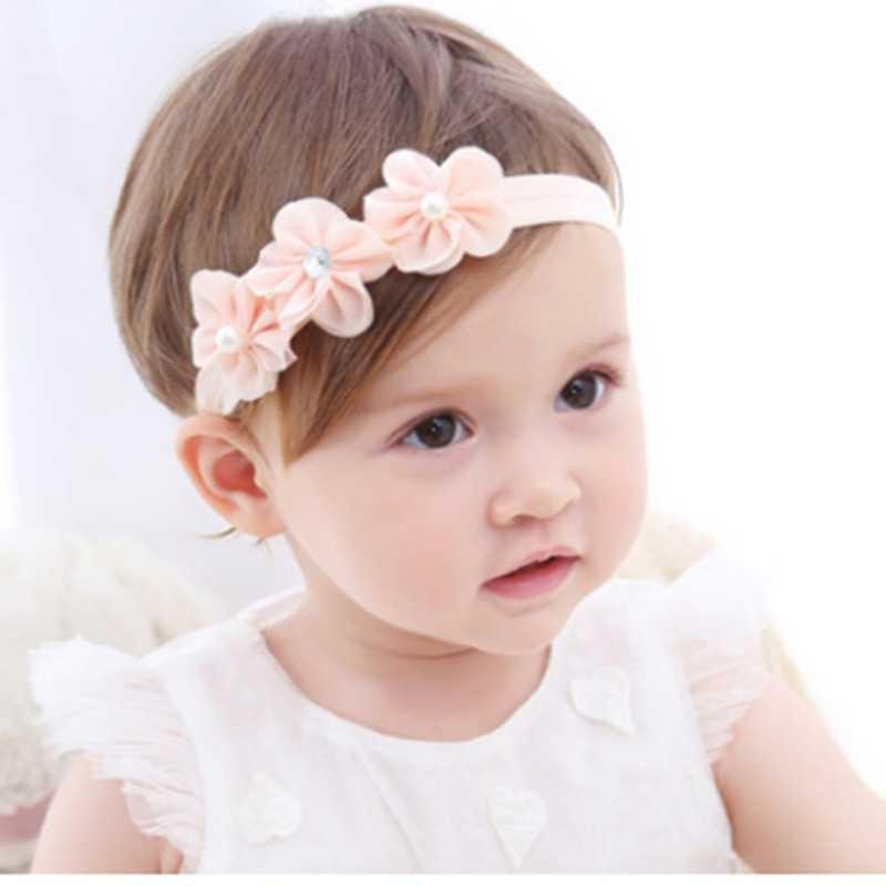 סרט תינוק קוריאני יילוד בד פרחי בנות סרטי ראש DIY תכשיטי אבזר צילם תמונות ילדי שיער אבזרים