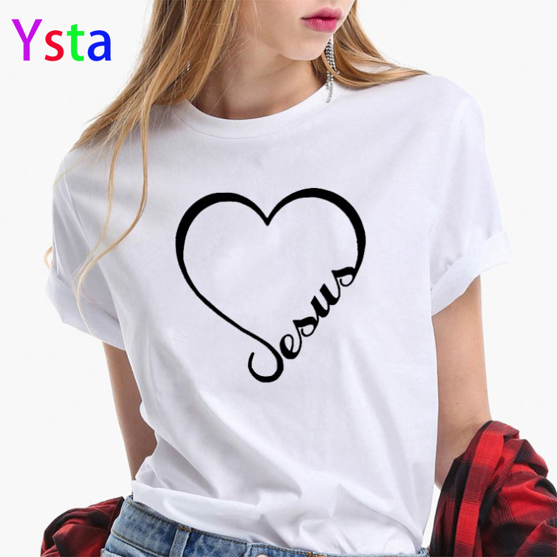 2020 Summer New Women T-shirt Girls Harajuku Love Printed Top TShirt Short Sleeve Lovers Cotton White Tshirt For Lady Casual Top