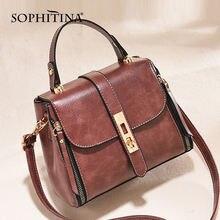 Sophitina женская сумка через плечо высокое качество металлическая