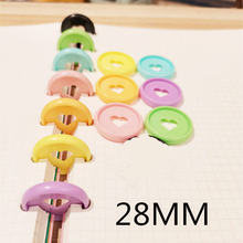 Цветная Пластиковая кольцевая Пряжка 100 шт 28 мм в форме сердца