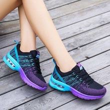 Fashion Running Shoes Women Cushion Sneakers Sports Outdoor Platform Sneakers Breathable Fitness Walking Toning Shoes Workout