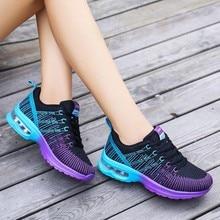 Zapatillas deportivas de deporte transpirables para mujer, calzado moderno para correr, con amortiguación, para exteriores, con plataforma, para Fitness, caminar, entrenamiento