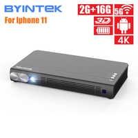 BYINTEK UFO P12 300 zoll Smart 3D WIFI Android Pico Tasche HD Tragbare Micro Mini LED DLP Projektor Für Iphone 11 Ipad Smartphone